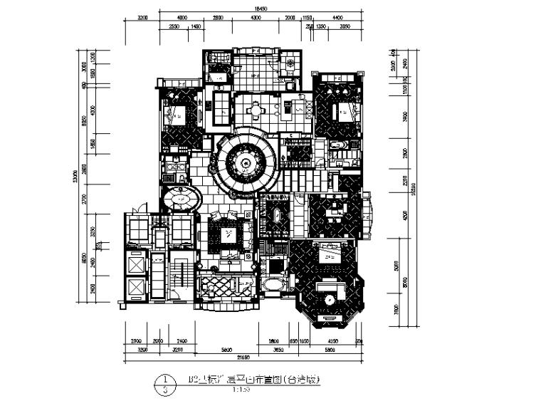 [北京]两套时尚经典别墅设计CAD施工图二
