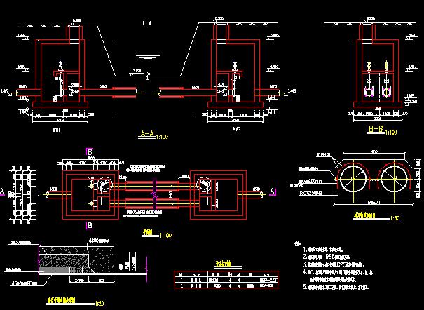 55米宽工程道路全套施工图设计足浴236张CA市政设计cad图片