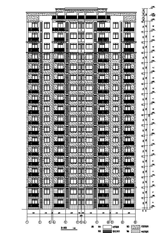 [安徽]高层住宅建筑施工图(含多栋住宅建筑及地下车库图纸)