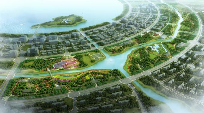 """[上海]""""海绵城市""""郊野环湖风光带滩涂湿地公园景观设计方案"""