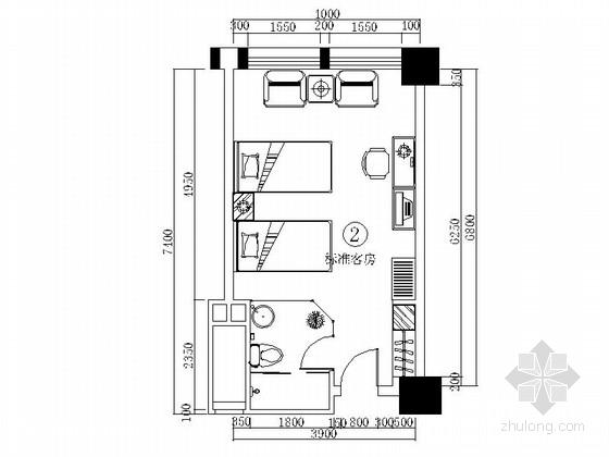 某时尚大酒店2号标准客房装修图