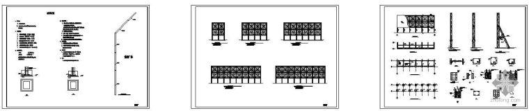 某落地广告牌丙类钢建筑结构图