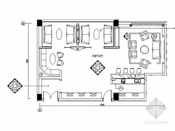 [安徽]国际酒店雪茄吧室内装修图