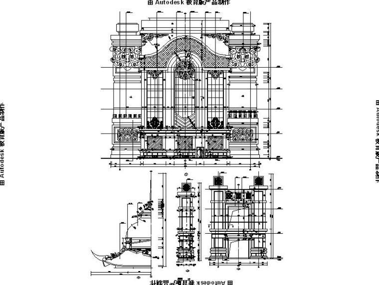[内蒙古]四层新古典风格多功能文化中心建筑施工图(16年最新)_13