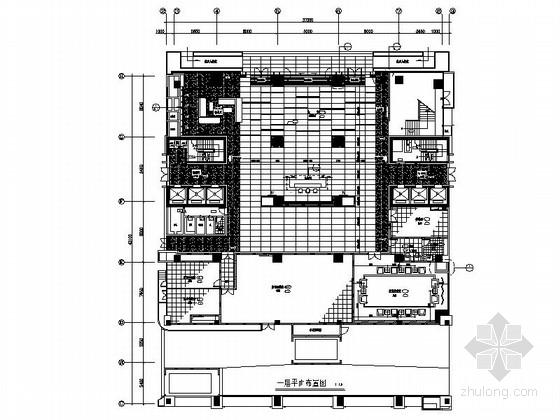 [广东]商贸核心地段中国控股通信集团商业写字楼装修施工图(含效果实景)