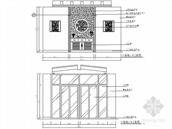 [苏州]风景秀丽生态园区A2型欧式风情三层别墅装修施工图餐厅立面图