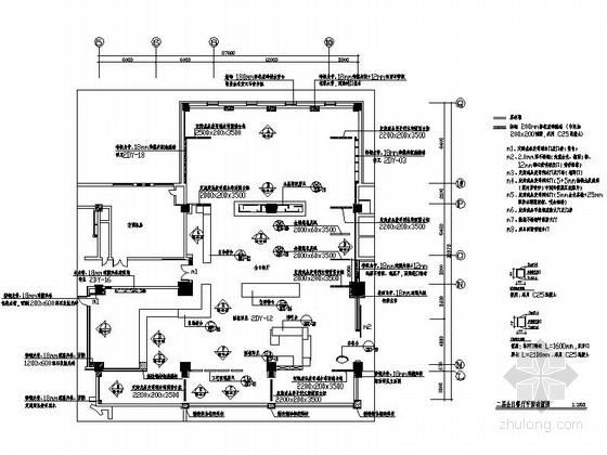 [吉林]综合性五星级酒店全日餐厅室内装修施工图(含效果)