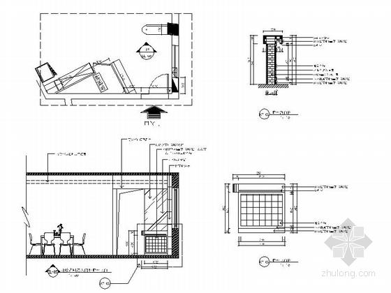 现代时尚三室两厅设计装修图大样图