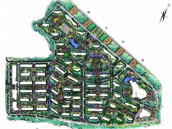 [青岛]意大利风情居住区景观规划设计方案