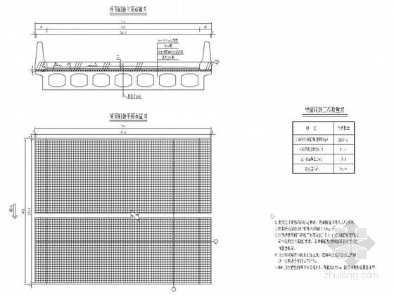 [贵州]空心板桥改造工程施工图设计42张(含预算表)