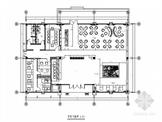 [杭州]现代大气售楼中心装修施工图