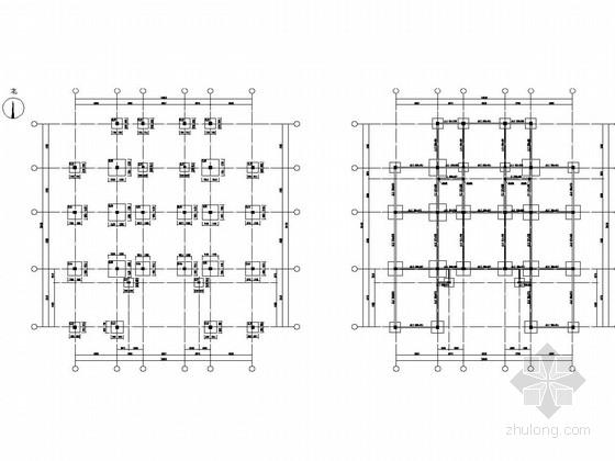 [山东]两层框架结构企业家会所会议中心结构图