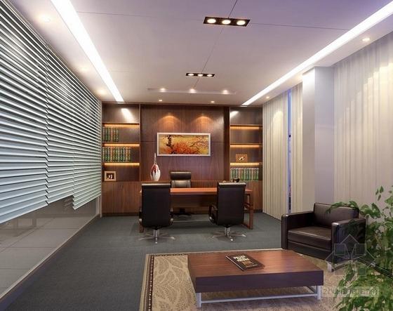 [大连]世界最高档之一汽车品牌现代4S店室内概念方案图总经理室效果图