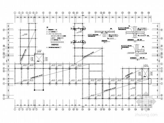 五层砖混教学楼加固改造施工图