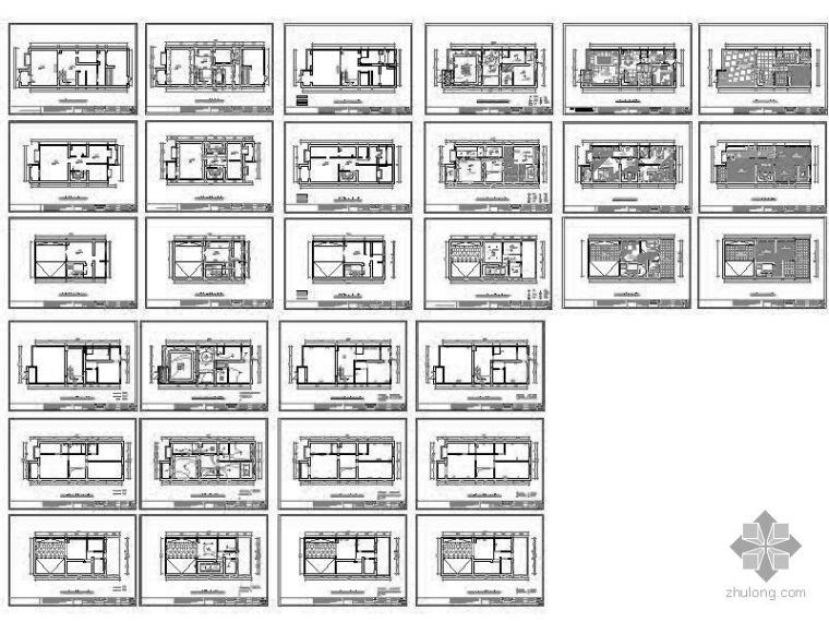 三层别墅空间平面装修图_2