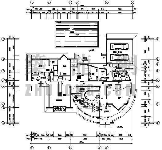 VRV空调设计图资料下载-成都某国际生态别墅VRV空调设计图