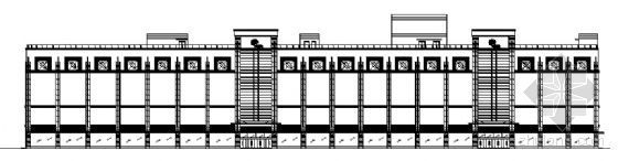 西安市某五层医院建筑方案图
