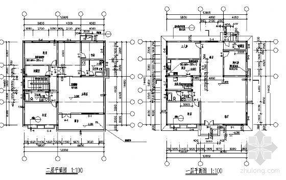某二层小别墅建筑方案图-3