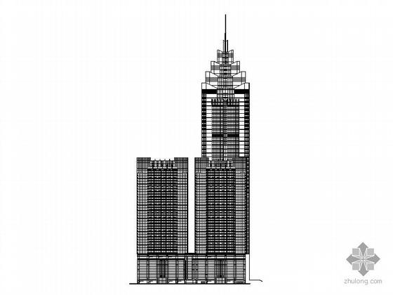 [深圳]某四十四层办公楼建筑施工图(198米)