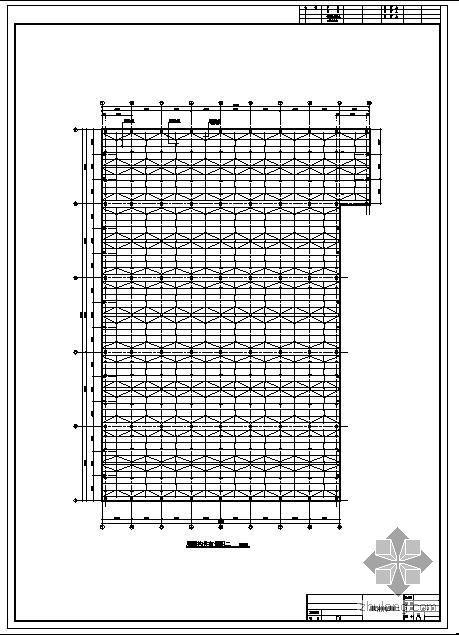 上海某钢筋混凝土排架厂房结构图