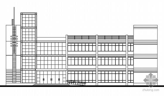 海南某四层小型办公楼建筑施工图(带效果图)