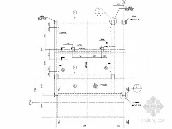 门式刚架结构电梯井道结构施工图