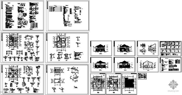 某二层砖混结构别墅建筑结构图