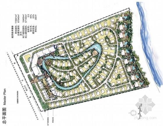 [海南]西班牙风格生态滨水别墅区景观概念规划方案(知名事务所设计)
