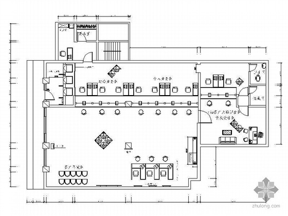 UPS插座布置资料下载-中国邮政储汇银行营业厅装修