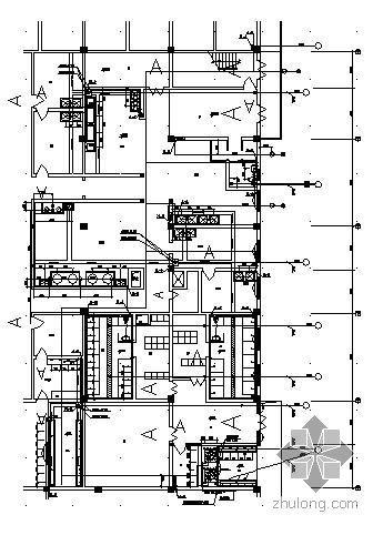 某中学二层食堂给排水设计图