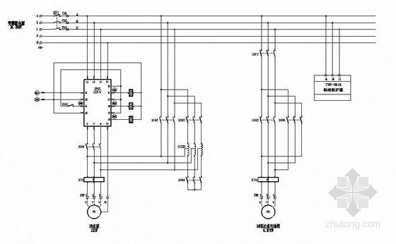 水泵房电气原理及PLC控制图