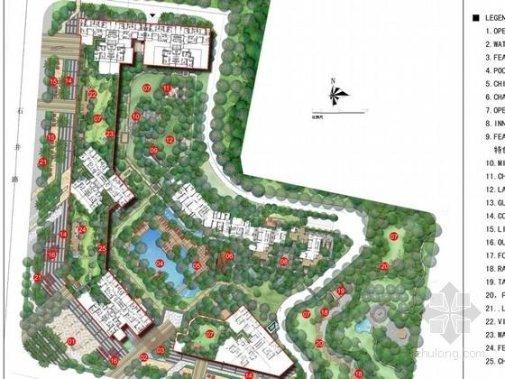 [东莞]现代泰式风格居住区景观扩初设计方案