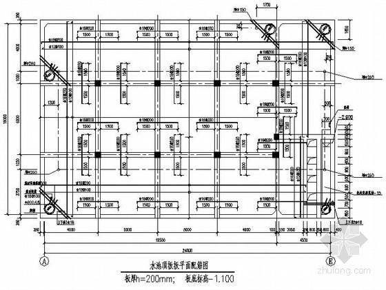 [北京]某特种结构水池结构施工图含计算书(中建)