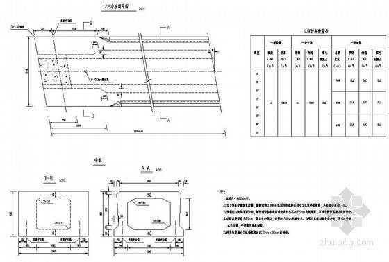 16m装配式后张法预应力混凝土简支空心板成套cad设计图纸