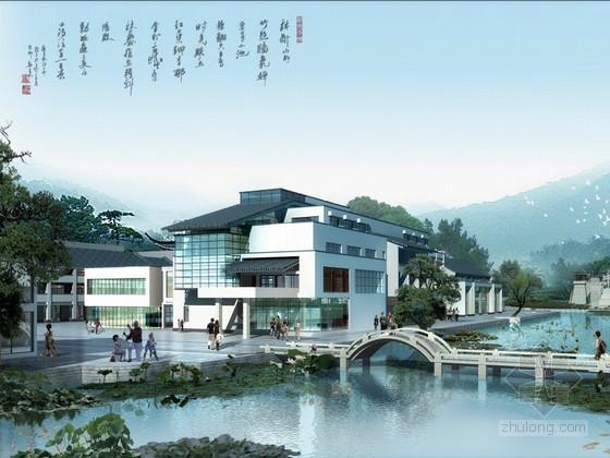 新中式建筑PSD分层素材下载