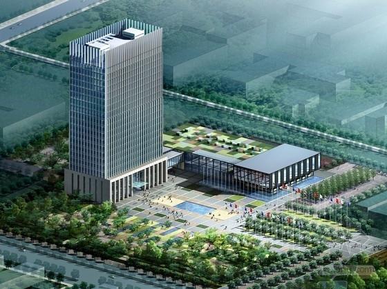 [河北]现代风格知名企业办公综合楼设计方案文本