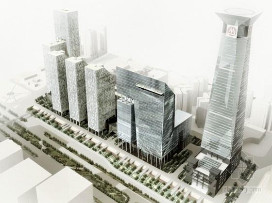 [广东]125米超高层玻璃幕墙商业综合体设计方案文本(含CAD图纸)