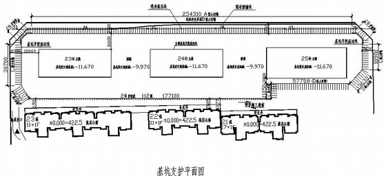 某住宅小区深基坑土钉喷锚支护施工设计图(锚索)