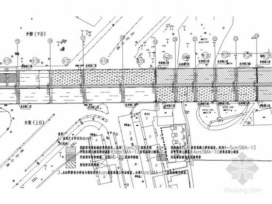 [上海]预应力混凝土板城市立交桥维修工程施工图设计25张(桥面铺装 裂缝修补)