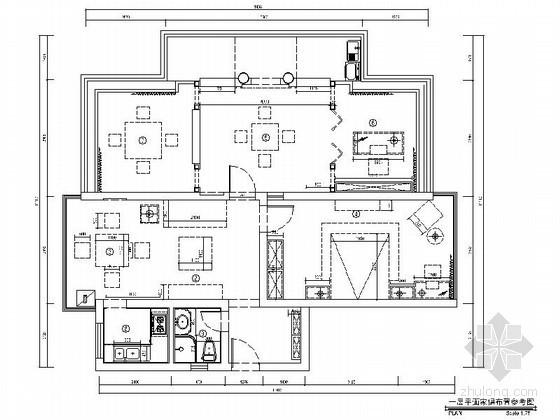 [重庆]中式二居室样板房装修图(含效果)