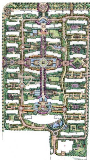 [湖南]小区全套概念性景观设计方案
