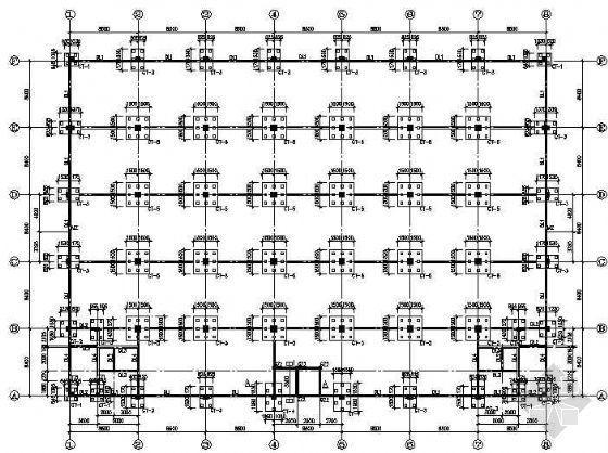 某六层框架结构工业厂房全套图纸
