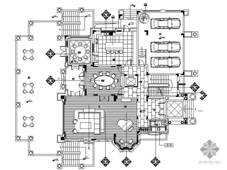 [深圳]欧式高尔夫球会别墅C13型竣工图