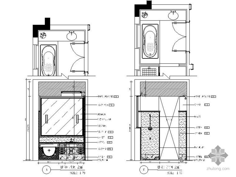 别墅卫生间装修施工图_2