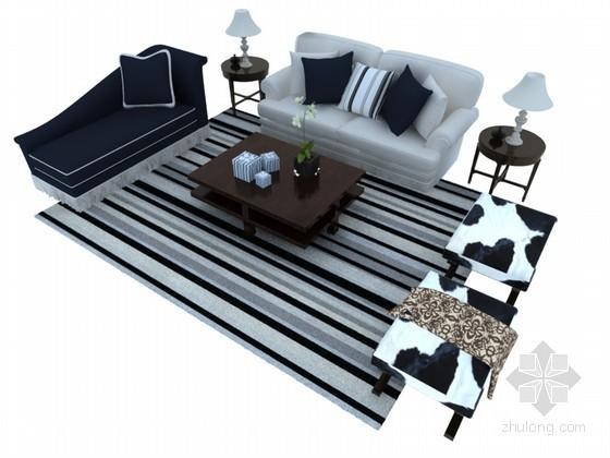 时尚组合沙发3D模型下载