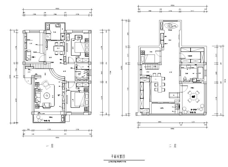 [四川]王府简美风格室内设计施工图(含效果图)