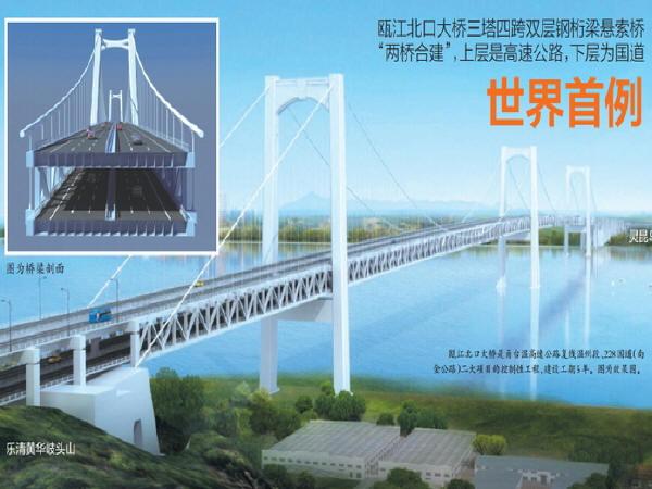 """瓯江北口大桥""""豆腐""""里拼装世界级超大型钢沉井_2"""