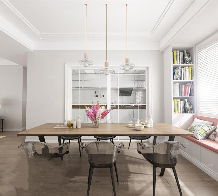 17套北欧风格餐厅厨房3D模型合集