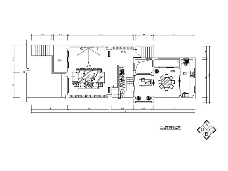 [湖南]联排别墅中式风格设计CAD施工图(含效果图)