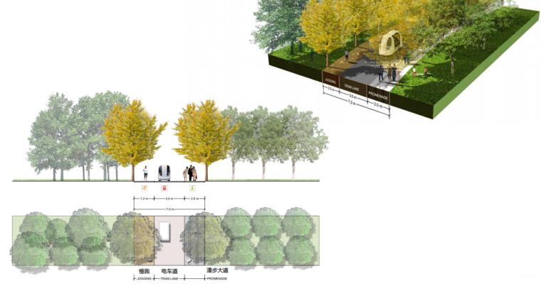 [上海]南站绿轴景观方案设计(现代风格)A-11剖面图